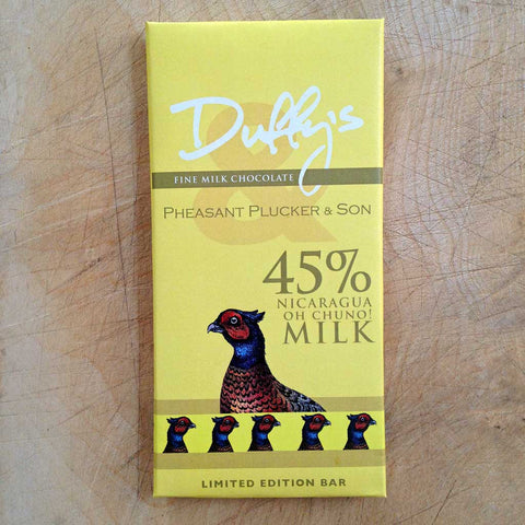Duffy's Chocolate Nigaragua Oh Chuno! 45% milk chocolate