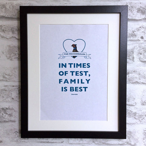 Family is Best personalised giclee print