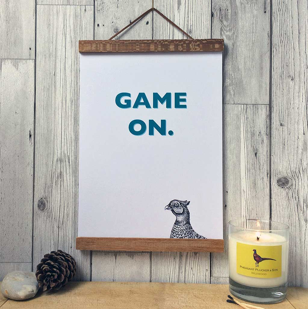 Pheasant Plucker & Son's 'Game On' A4 print