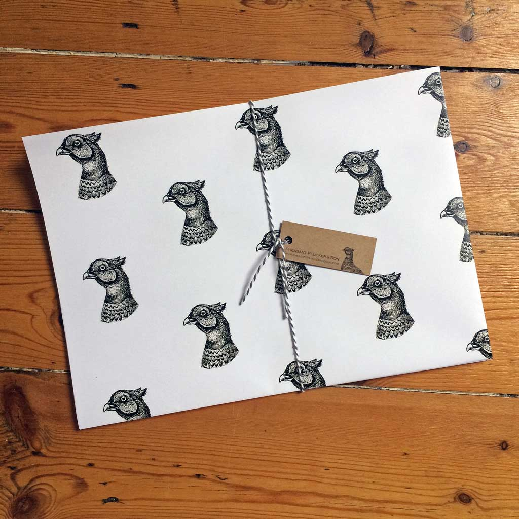 Pheasant Plucker and Son's pheasant gift wrap