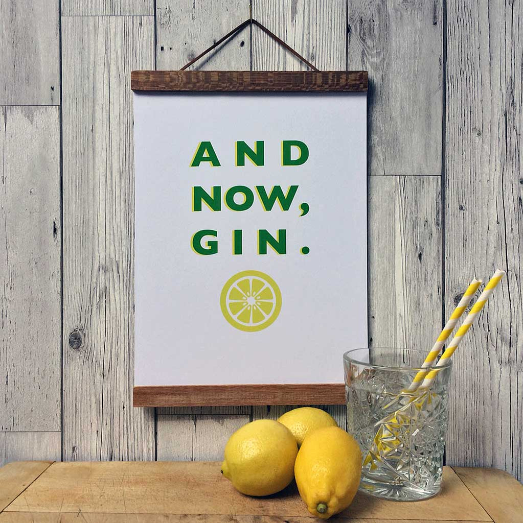 Pheasant Plucker & Son's 'And Now Gin' A4 print
