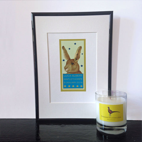 Personalised Rabbit giclee print