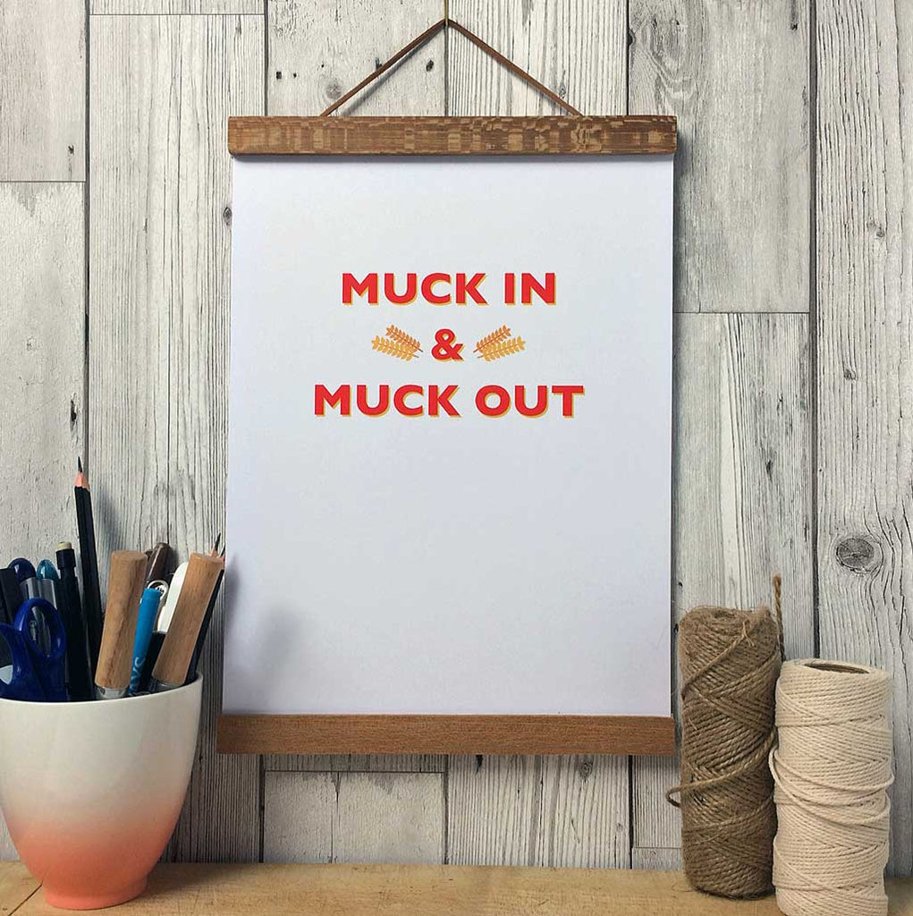Pheasant Plucker & Son's 'Muck In & Muck Out' print
