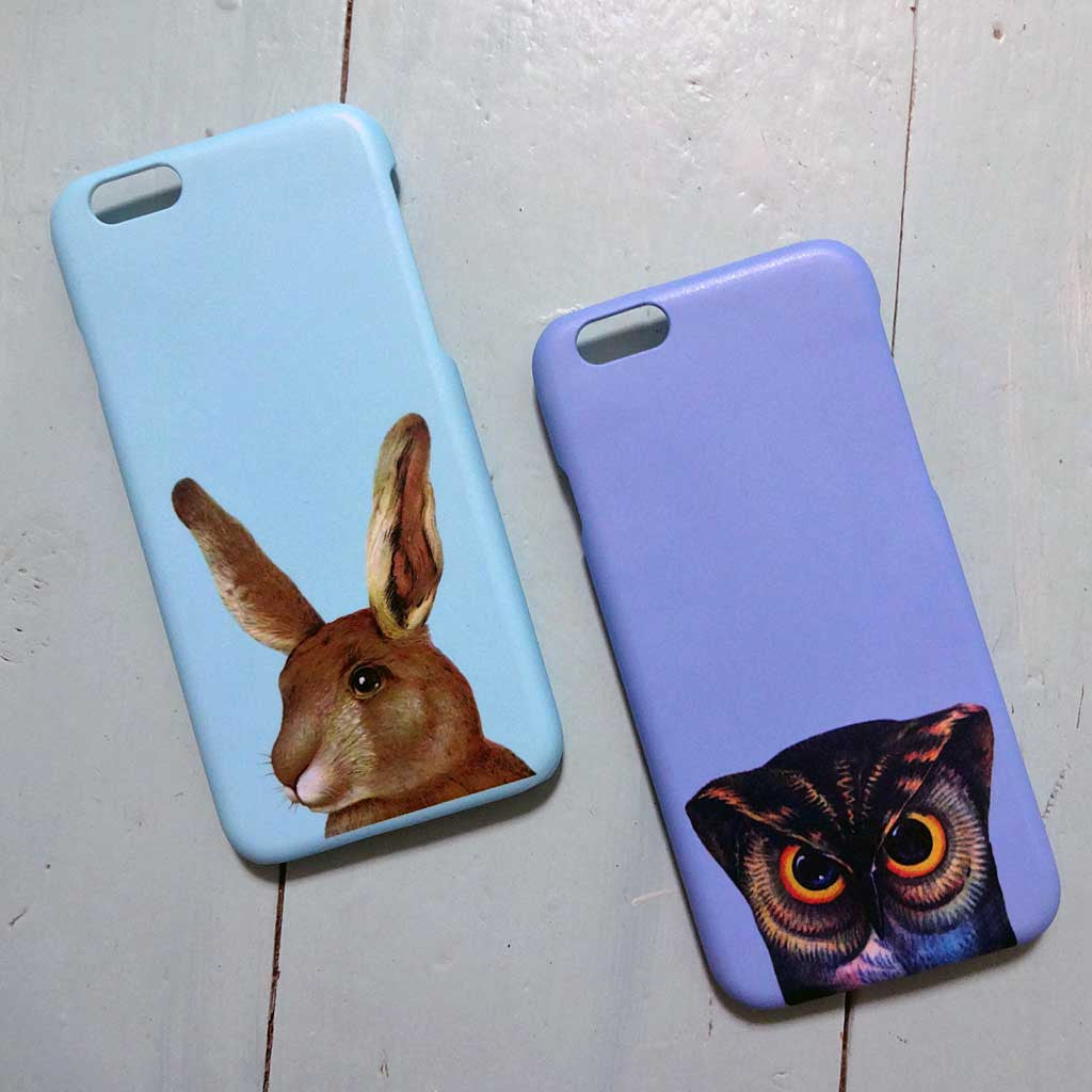 Pheasant Plucker & Son's iPhone cases in Rabbit and Owl designs