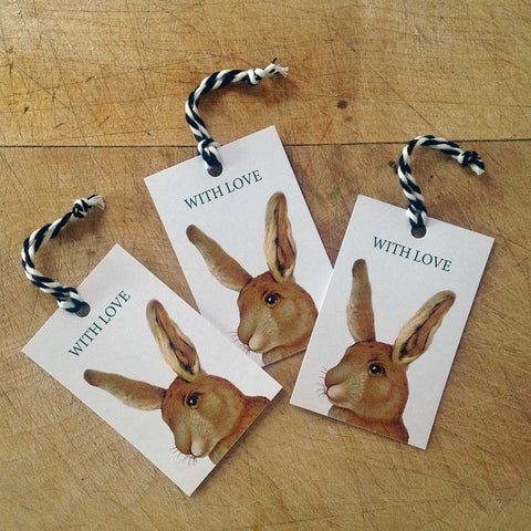 Rabbit gift tags (pack of 5)