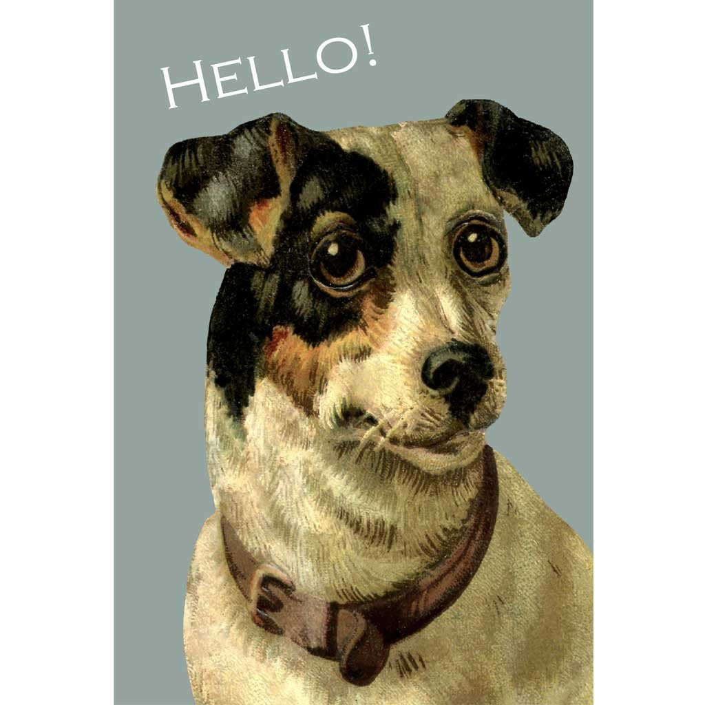 Jack Russell hello card + Tea towel