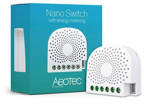 Aeotec Z-Wave NANO DUAL In Wall Smart Switch with Power Monitoring