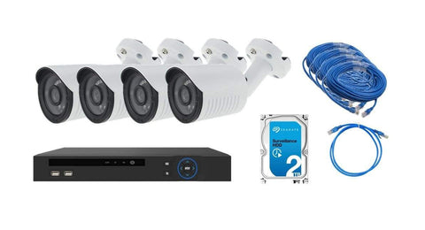 LiveHouse 4 Camera 2.0 Megapixel 1080p PoE Camera and 2TB NVR Kit