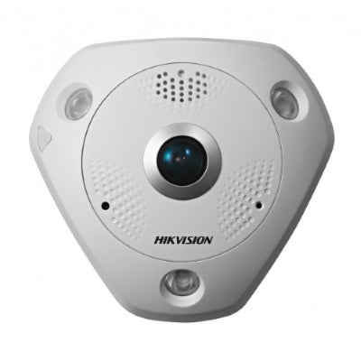 LiveHouse Automation :Hikvision 12MP Outdoor Fisheye Camera, DWDR, 15m IR, ePTZ, IP66 (1.98mm),Hikvision