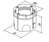 LiveHouse Automation :TEM HE11 Round Box Hollow Wall SM68x55,TEM