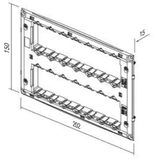 LiveHouse Automation :TEM NM72 Mounting Frame With Screws 2x7M,TEM