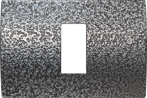 LiveHouse Automation :TEM OP13 Cover Plate PURE 1/3M,Hammered Steel