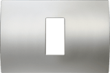 LiveHouse Automation :TEM OP13 Cover Plate PURE 1/3M,Satin Silver