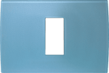 LiveHouse Automation :TEM OP13 Cover Plate PURE 1/3M,Ice Blue