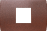 LiveHouse Automation :TEM OP23 Cover Plate PURE 2/3M,Etched Iron