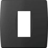 LiveHouse Automation :TEM OS10 Cover Plate SOFT 1/2M,Soft Touch Black