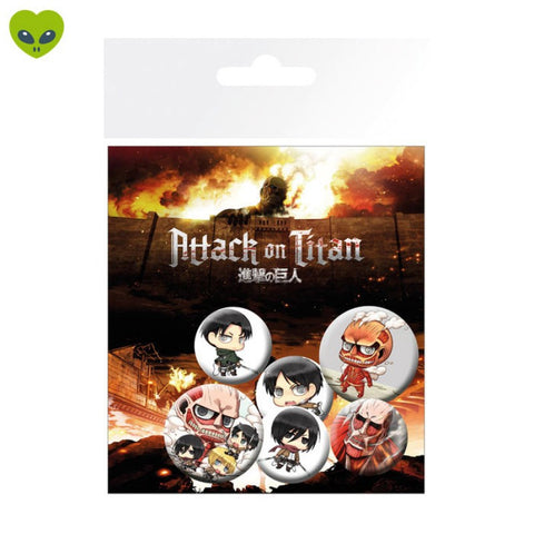 Attack On Titan Chibi Characters Badge Pack (6)
