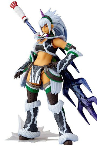 Monster Hunter X Vulcanlog Monhan Revo Action Figure Hunter Swordswoman Kirin U Series 16 cm