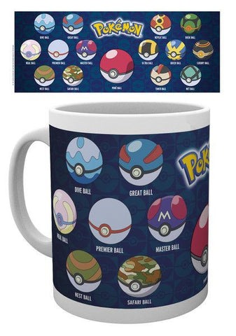 Pokemon Mug Pokeball Variations
