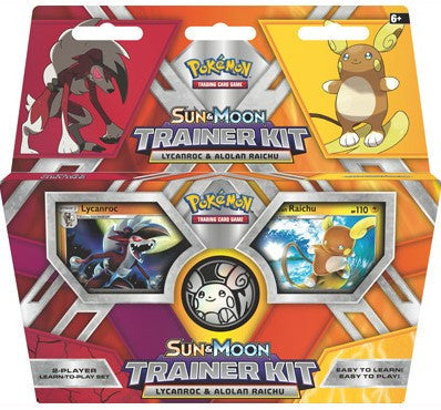 Pokémon TCG: Sun and Moon Trainer Kit - Lycanroc & Alolan Raichu