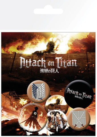 Attack On Titan Characters Badge Pack (6)