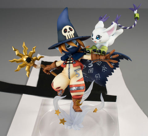 Digimon Adventure G.E.M. Series PVC Statue Wizardmon & Tailmon 18 cm