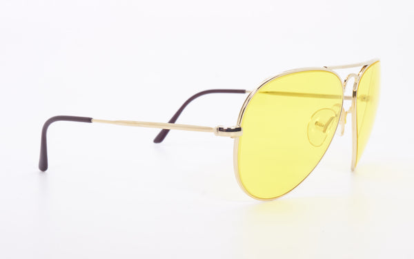 RARE VINTAGE CEBE 205 YELLOW KALICHROME AVIATOR SUNGLASSES