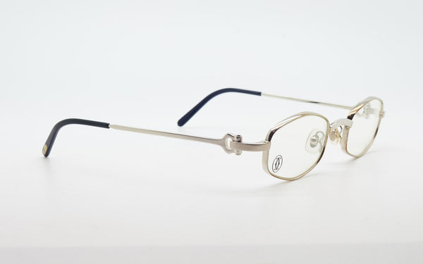 CARTIER C-DECOR PLATINUM PLATED 45-21 EYEGLASSES