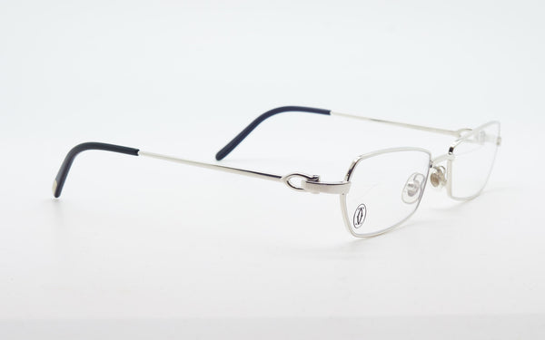 CARTIER C-DECOR PLATINUM PLATED 50-16 EYEGLASSES
