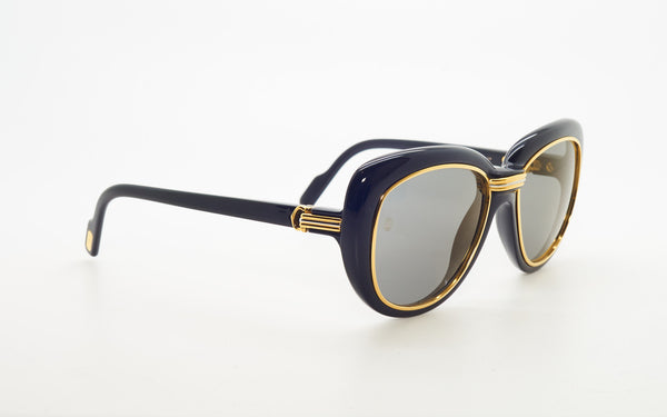 CARTIER CONQUETE GOLD PLATED 51-17 SUNGLASSES