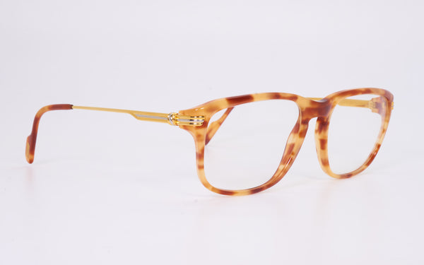 RARE VINTAGE CARTIER LUMEN 54-18 GOLD PLATED COMBINATION EYEGLASSES