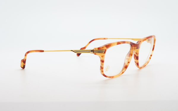 CARTIER LUMEN 54-18 GOLD PLATED EYEGLASSES