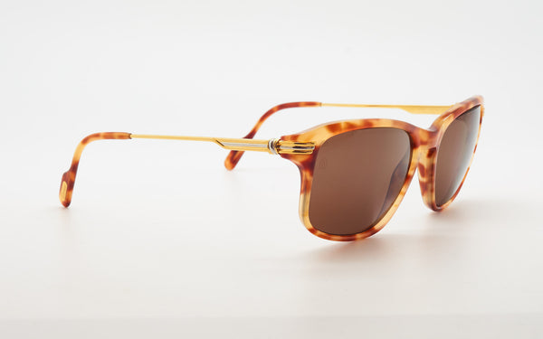 "CARTIER ""LUMEN"" 54-18 TORTOISE SHELL SUNGLASSES"