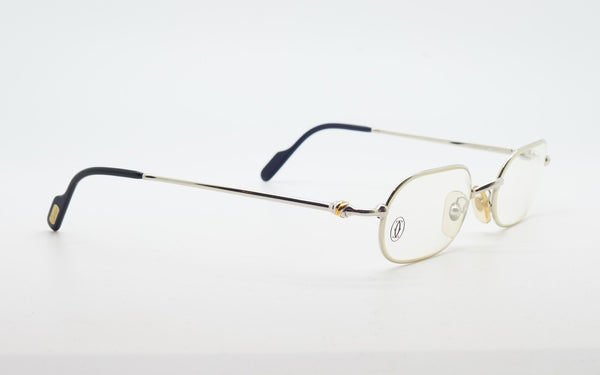 "CARTIER ""VESTA"" 50-21 PLATINUM PLATED EYEGLASSES"
