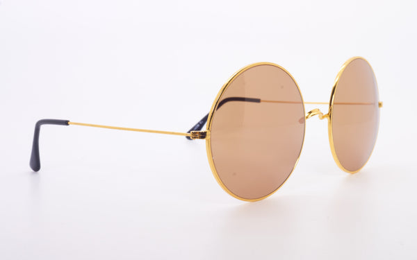 RARE VINTAGE CUTLER & GROSS ROUND METAL ORIGINAL SUNGLASSES