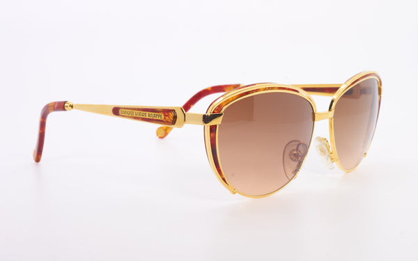 "ENRIQUE LOEWE KNAPP ""FEBE"" 22kt GOLD PLATED SUNGLASSES"