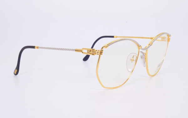 VINTAGE FRED LUNETTES CYTHERE GOLD AND PLATINUM PLATED EYEGLASSES