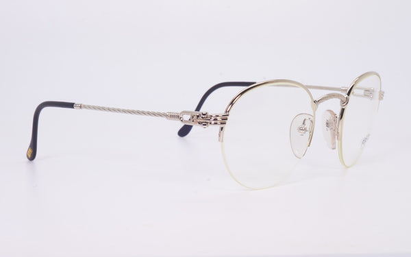 RARE VINTAGE FRED LUNETTES GRAND LARGUE PLATINUM PLATED EYEGLASSES