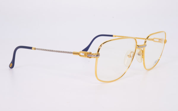 VINTAGE FRED LUNETTES ZEPHIR GOLD AND PLATINUM PLATED EYEGLASSES