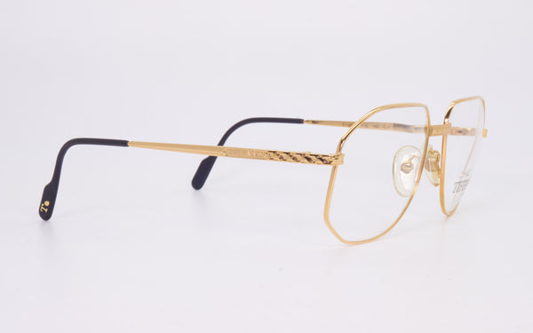 RARE VINTAGE TIFFANY LUNETTES T129 23kt GOLD PLATED 1980's EYEGLASSES