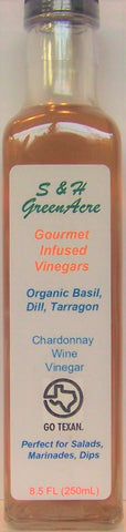 Gourmet Vinegar: Basil, Dill and Tarragon.