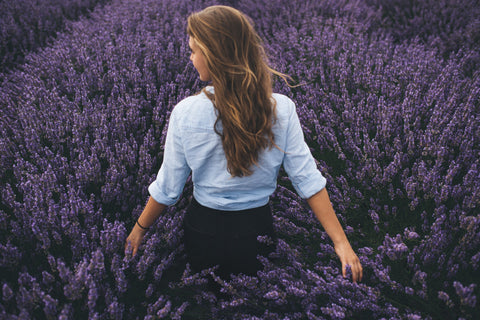 Lavender oil can be a great way to relax your mind!