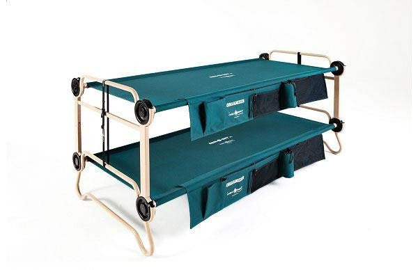 Cam-O-Bunk XL with side organisers, Adult camping bunk bed by Disc-O-Bed