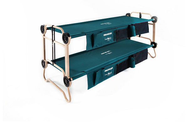 Cam-O-Bunk Large with side organisers, Adult camping bunk bed by Disc-O-Bed