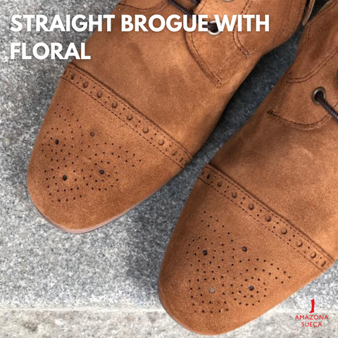 Straight brogue with floral