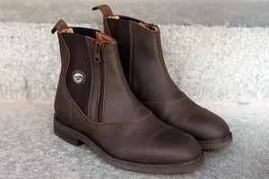 VICTOR Waxed Brown Leather