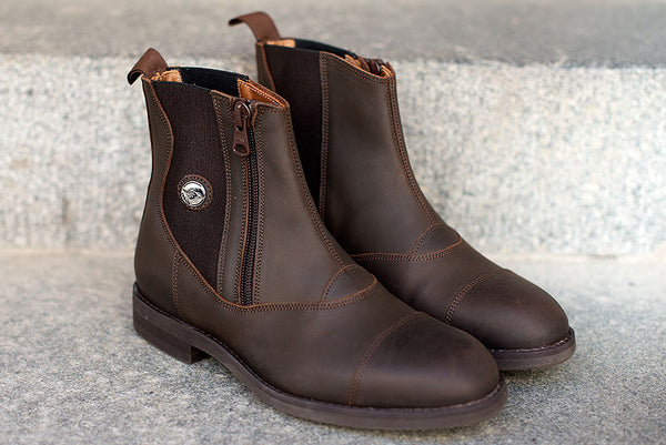 VICTOR - waxed brown leather