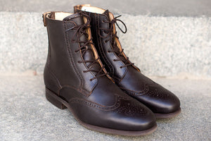 BRITO - Chocolate brown leather