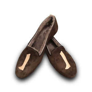AUGUSTA SHEEPSKIN Coffee Brown Suede