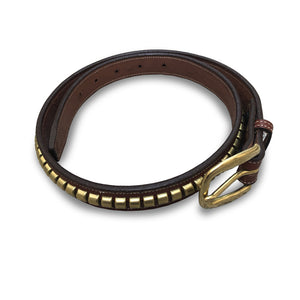Brass Clincher Oakbark Leather Belt